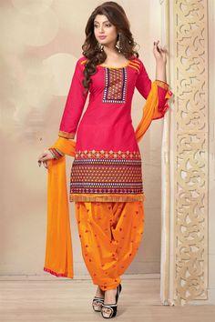 Pink Color Designer Patiala Salwar Kameez