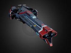 Shallow space - Blackbird-class Battlecruiser by Enver Dzekoev on ArtStation.