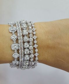 Diamond Bracelets How would you describe this? Diamond Bracelets Illusions emerald diamonds bracelet Finest Jewelry Heart Diamonds braceletANYONE FOR TENNIS? Diamond Bracelets, Silver Bracelets, Diamond Jewelry, Diamond Earrings, Jewelry Bracelets, Women's Jewelry, Fashion Jewelry, Ankle Bracelets, Cheap Jewelry
