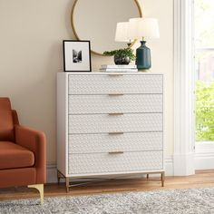 Beautiful Home Decor, Beautifully Priced Chest Of Drawers Decor, White Chest Of Drawers, Bedroom Drawers, Small Dresser, Wood Dresser, Bedroom Storage, Dresser With Tv, Ikea Dresser, 5 Drawer Dresser