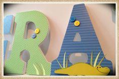 Alligators. Crocodiles. Wall letters for boys Nursery or Bedroom Letters. Tropical. Blue. Green. Custom. on Etsy, $12.65