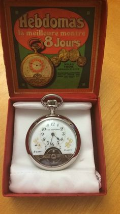 Hebdomas style 8 day Comfort Antique Pocket Watch, Runs great