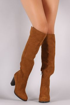 c7a5c66203a Bamboo Suede Chunky Heeled Western Boots