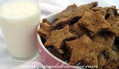 Cookies com Gotas de Chocolate e Nozes
