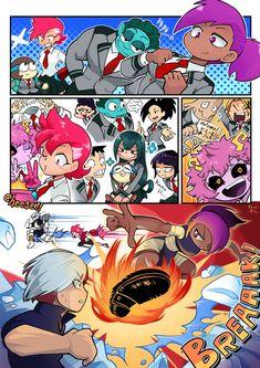 Heroes in Training! My Hero Academia Episodes, My Hero Academia Memes, Hero Academia Characters, My Hero Academia Manga, Best Crossover, Fandom Crossover, Anime Crossover, Anime Vs Cartoon, Cartoon Art