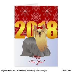 Happy New Year Yorkshire terrier