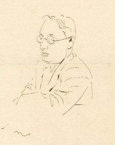 Retrat de Josep Maria López-Picó, Josep Obiols. / Biblioteca de Catalunya