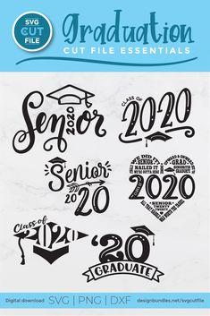 2020 grad svg file - a class of 2020 senior svg bundle Senior Shirts, Graduation Shirts, Graduation Quotes, Graduation Diy, Graduation Announcements, Graduation Invitations, Create Custom Shirts, Graduation Cap Decoration, Grad Gifts