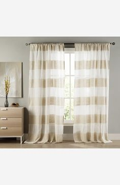 Just bought these for my dining room! Duck River Textile 'Lydelle' Cabana Stripe Window Panels (Set of 2) available at #Nordstrom