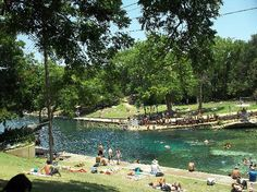 Barton Springs pool - 1,000 foot long natural limestone pool, fed by several underground springs - $3 to get in, no towels or other amenities provided. They do have restrooms, showers and changing rooms and lifeguards on dut