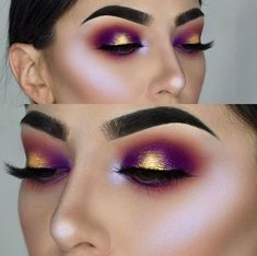 If you'd like to enhance your eyes and increase your good looks, using the very best eye make-up tips and hints can help. You want to be sure to put on make-up that makes you start looking even more beautiful than you already are. Pretty Makeup, Love Makeup, Makeup Inspo, Makeup Art, Gorgeous Makeup, Purple Makeup, Amazing Makeup, Beauty Makeup, Glitter Makeup