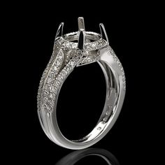 The Triple Diamond Shank Ring Mounting has 0.45 carats total weight of Diamonds set in 18 Karat White Gold for $2,400.  Come in to Juniker Jewelry, Mississippi's number one fine jewelry store, to see Christopher Designs rings!  If you cannot come in the store anytime soon, add it to your Wishlist so we can have it on file for you!