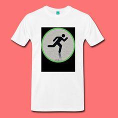 AlphaDotsRun by UlissesSantiagoARTStudio - Men's Premium T-Shirt