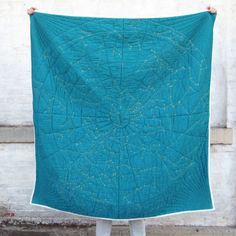 The Autumn Night Sky Is Embroidered On This Awesome Quilt