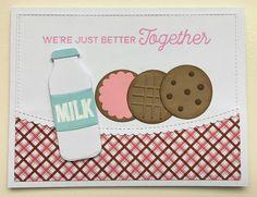 card milk and cookies MFT Milk and cookies Die-namics MFT Cookie crumbs Die-namics #mftstamps Mocha Frap Scrapper: Cookies - Three Ways