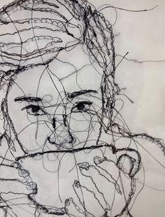 Custom Stitched Portraits! by KimberFollevaagArt on Etsy