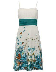 Water colour print dress