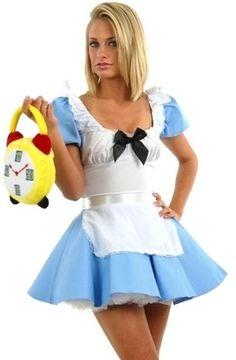 Leg Avenue Sexy Adult CUTE Alice in Wonderland Fancy Dress Costume