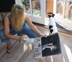 Artist Anne Lundbergh  At work in my home.   Kunstværket - - Tegning  - MyArtSpace - Online galleri, Se det flotte  Tegning