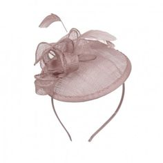 Bibi chapeau de mariage marron glacé