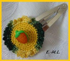 Unikat Haarspange,ausgefallen..... von Shop Kunterbunt  auf DaWanda.com,gehäkelt...