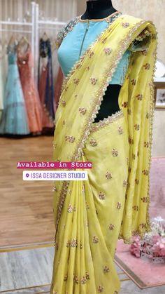 Saree Blouse Neck Designs, Saree Trends, Designer Blouse Patterns, Stylish Sarees, Dress Indian Style, Saree Look, Elegant Saree, Fancy Sarees, Saree Styles