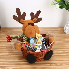 Christmas Candy Storage Basket Decoration Santa Claus Storage Basket Gift Y Babies First Christmas, Christmas Gifts For Kids, Xmas Gifts, Merry Christmas, Christmas Candy, Christmas Desktop, Christmas Decoration Items, Advent Calendar Activities, Candy Display
