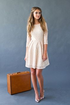 The Delphine Dress in Blush Pink