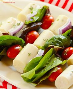 Heart of Palm Salad Skewers (Salada de Palmito no Espeto) - From Brazil To You