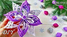 MARLENA-Hand Made - YouTube Foam Christmas Ornaments, Origami Christmas Ornament, Diy Christmas Gifts, Handmade Christmas, Holiday Crafts, Coconut Shell Crafts, Paper Flowers Craft, Foam Crafts, Youtube