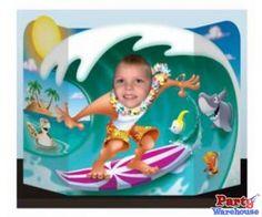 Luau Surfer Dude Large Cutout Photo Prop