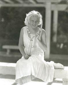 Jean Harlow #tennis