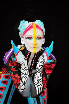 colors, contrast, make-up, circus