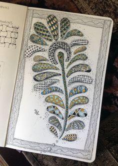 Zentangle Peacock Feather - Gwen Lafleur