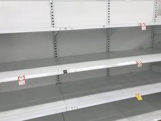 """The epidemic has led to what my mother calls """"panic buying"""" and shelves empty of essential sanitary goods – store chains fear increasing prices to create more supply as the public would complain severely. Empty, Chains, Public, Shelves, Led, Store, Create, Stuff To Buy, Shelving"""