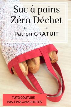 Zero waste bread bag (Free tutorial) - ★ COUTURE ★ Sewing tutorial with this practical bread bag! A bread bag is zero waste. Coin Couture, Couture Sewing, Sewing Projects For Beginners, Sewing Tutorials, Sewing Tips, Tutorial Sewing, Tutorial Crochet, Zuhair Murad Haute Couture, Maxi Dress Tutorials