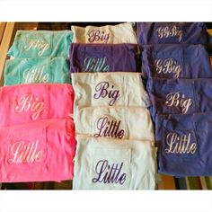 Sorority Big/Little Reveal Pocket Tees by The Initialed Life Perfect gifts for big/little appreciation week, sorority reveal, holiday gifts & more!
