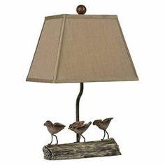 Little Birds Table Lamp in Cedar Pond