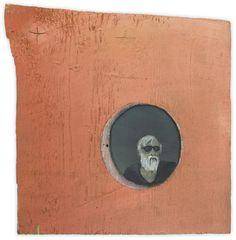 Baldessari in a Detail of a Hieronymus Bosch Painting, 25 x 25 cm, Oil on wood Hieronymus Bosch Paintings, Contemporary Art, Symbols, Oil, Detail, Artist, Kunst, Painting Art, Artists