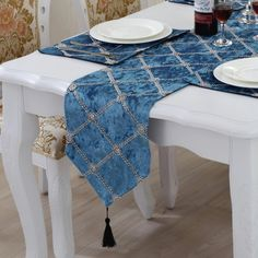 Cushions, table runners, place mats, table cloth and door mats