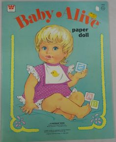 WHITMAN: 1975 Baby Alive Paper Dolls #Vintage #Toys