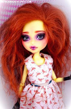Custom Monster High Insect Girl June by Retrograde Works, via Flickr Monster High Repaint www.retrogradeworks.com