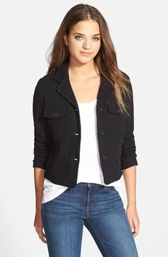 James Perse Military Fleece Jacket (Nordstrom Exclusive) available at #Nordstrom