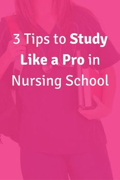 3 Tips to Study Like a Pro in Nursing School. Stress less in nursing school and still succeed. Click through to check out these 3 game changing tips.