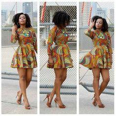 short and sweet print dress ~Latest African Fashion, African Prints, African fashion styles, African clothing, Nigerian style, Ghanaian fashion, African women dresses, African Bags, African shoes, Nigerian fashion, Ankara, Kitenge, Aso okè, Kenté, brocade. ~DK