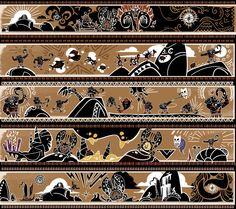 Moana - Tapa Cloth, Jenny Harder on ArtStation at https://www.artstation.com/artwork/Zz9Wx