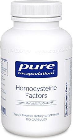 Pure Encapsulations - Homocysteine Factors - Hypoallergenic Supplement Helps Maintain Normal Homocysteine Levels and Cardiovascular Health* - 180 Capsules ** You can get more details by clicking on the image.