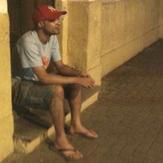Descansando um pouco no centro histórico de Itanhaém.