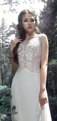 Milva Bridal Wedding Dresses 2017 Kritta / www. Wedding Girl, Bridal Wedding Dresses, Wedding Dress Styles, Designer Wedding Dresses, 2017 Wedding, Bride Dresses, Blue Wedding, Wedding Ideas, Elvish Wedding