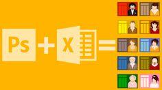 Aprende a automatizar invitaciones en Photoshop con Bloc de notas, Excel, Google Sheets, etc.